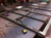 Staal deur glas lassen atelier