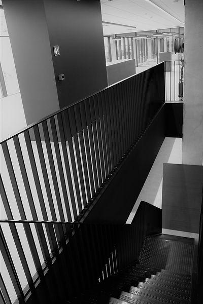 Leuning Staal zwart spijltjes trap