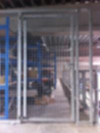 Omheining magazijn in galvanisé