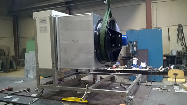 RVS kar industriële Airco installatie