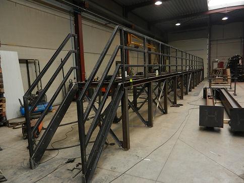 loopbrug, bordes, trap, staal