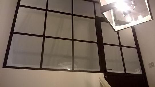 Stalen raam en deur zwart met glas