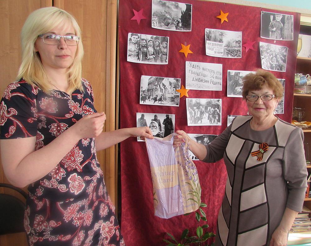 Ветеранов поздравляют с 9 мая, дарят продукцию ИП Федоренко Н.В.