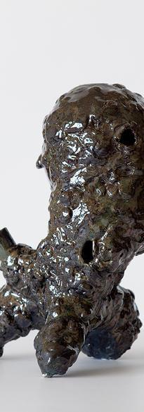 Mutant – 3 2020 Ceramic, glazed  30 x 18 x 17 cm # 013-2020