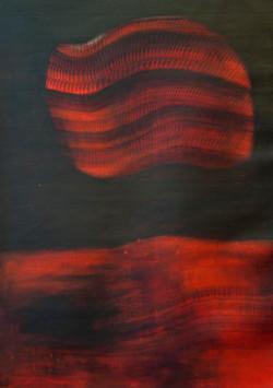 Sonam Dolma, Abschied No 3 2017 Acrylic on Canvas 140 x 100 cm