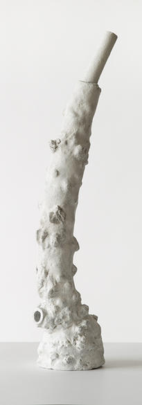 Dry palate - 1 2021 Fired clay, pigments  47 x 16 x 13 cm # 009-2021