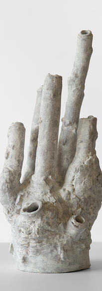 Instability - 2 2021 Fired clay, pigments  37 x 15 x 15 cm # 005-2021