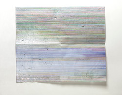 WAI Pong Yu韋邦雨 A RHYTHM OF LANDSCAPE 9 2019  Ballpoint pen on paper 57.5 x 68.4 cm