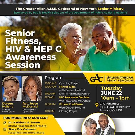 1080x1080, Senior Fitness, HIV & Hep C A