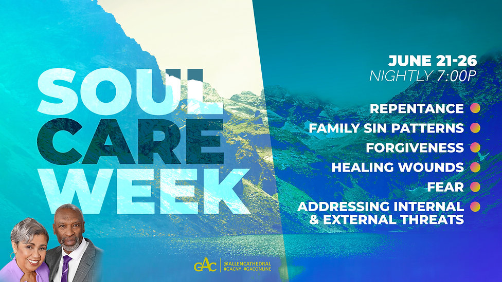 Soul Care Week: Sunday, June 23 – Saturday, June 26