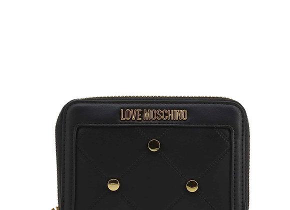 Portefeuille Femme Noir Love Moschino