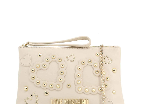 Pochette Femme Blanc Love Moschino