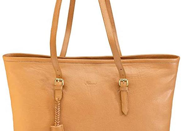 Flamant sac shopping 100% cuir
