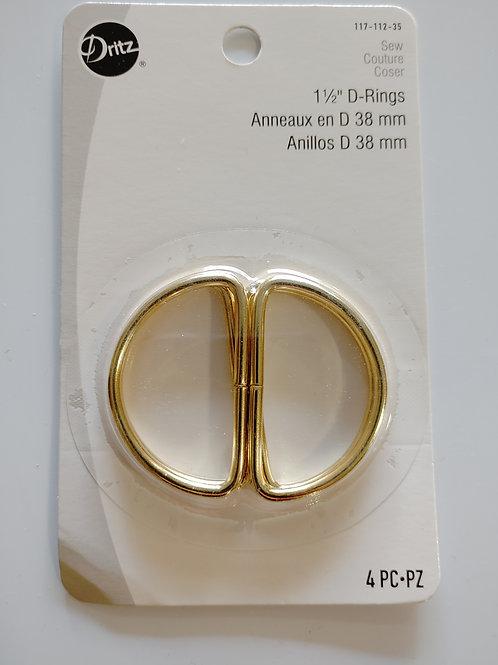1 1/2 inch Metal D Rings