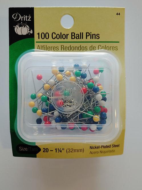 Color Ball Pins (set of 100)