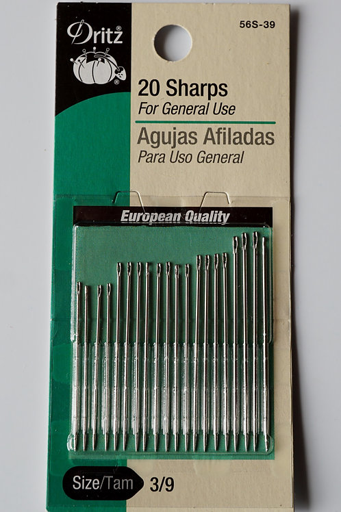 Needles with sharp points (set of 20)