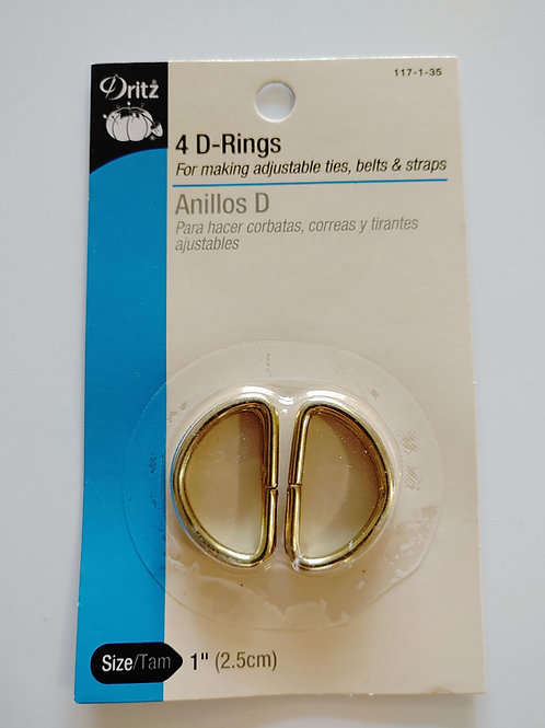 1 inch Metal D Rings