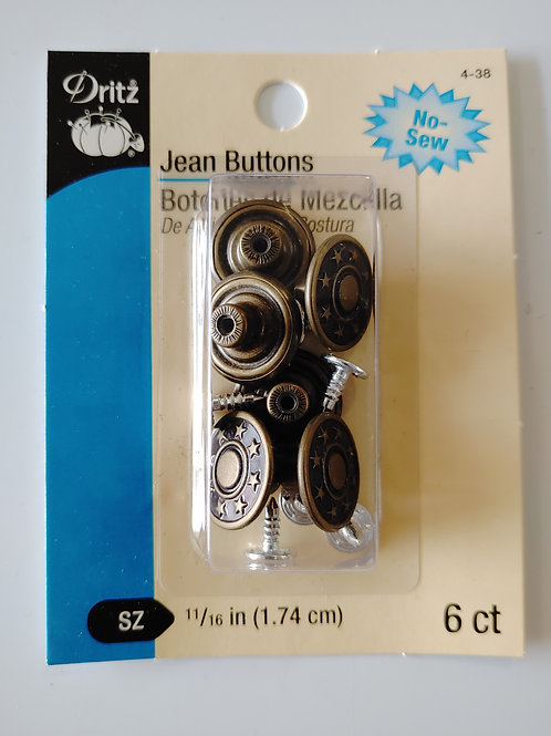 Jeans Buttons (set of 6)
