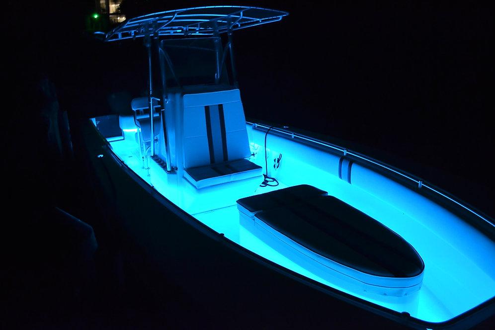 Marine LED Strip RGB Color Changing Boat LED Light Kit | t-toplights