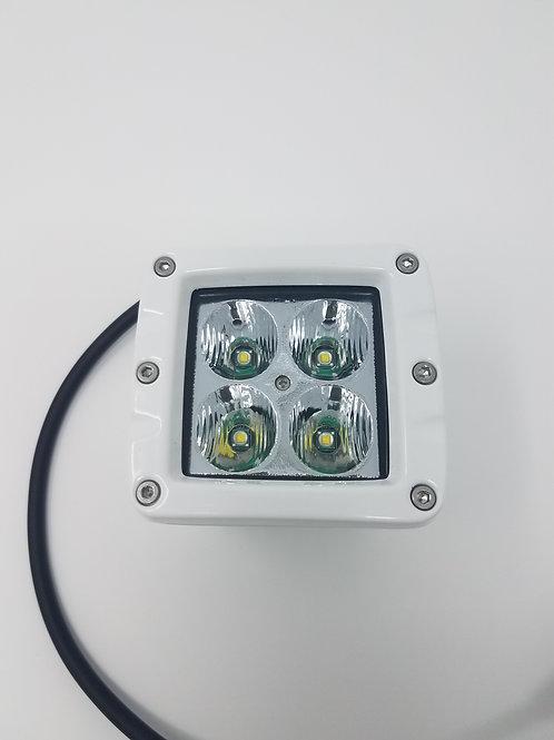 """Aurora 40 watt 2"""" Cube Marine LED T-Top Spreader Light"""