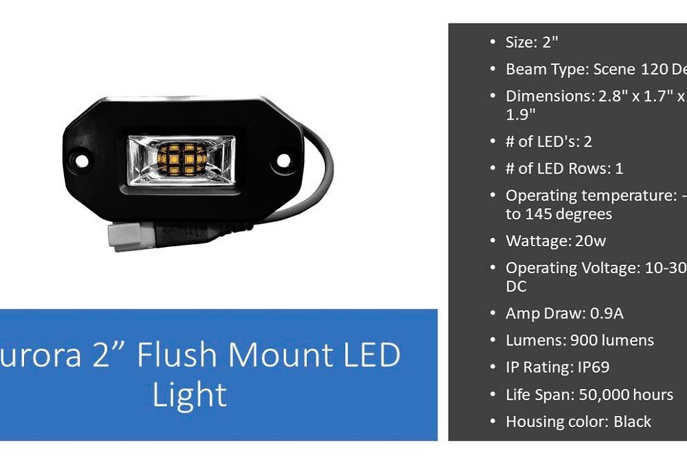Flush Mount 20W LED Spreader Light Aurora 2 Inch LED Light