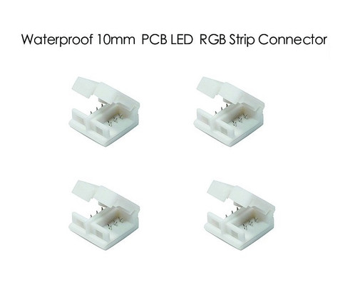 4 pcs 4 pin rgb led light strip connector for waterproof rgb aloadofball Image collections