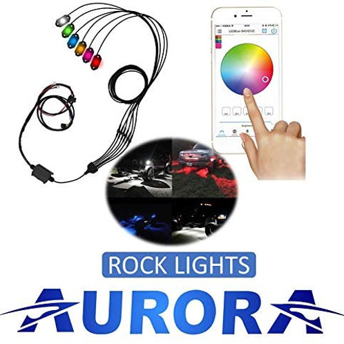 Aurora Multi Color RGB LED Rock Light Kit