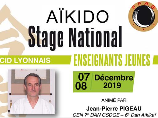 Stage National enseignants pour jeunes et Stage d'Aïkido pour tous à Aïkido Meyzieu