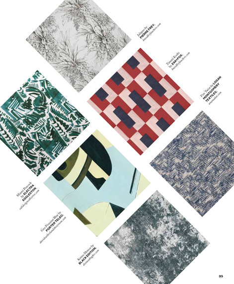 """Logan Montgomery Textiles """"Fire Twist"""" Fabric along with the other stars of the Textile Design world"""