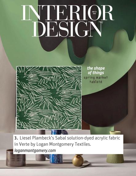 Interior Design Spring Tabloid Sabal Fabric in Verte