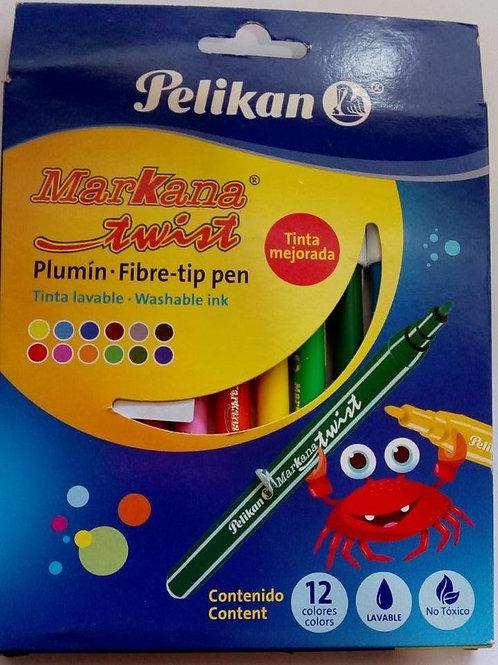 Plumón Pelikan de 12 piezas