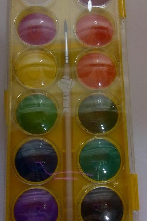 Acuarela Tryme de 12 colores