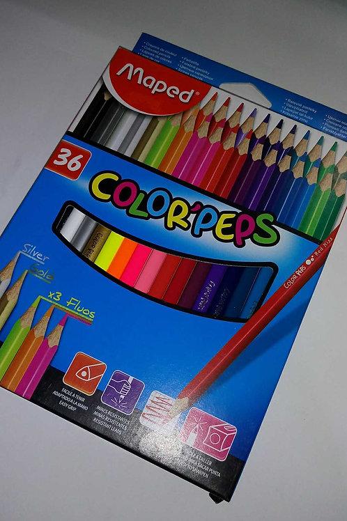 Colores Maped de 36 piezas.