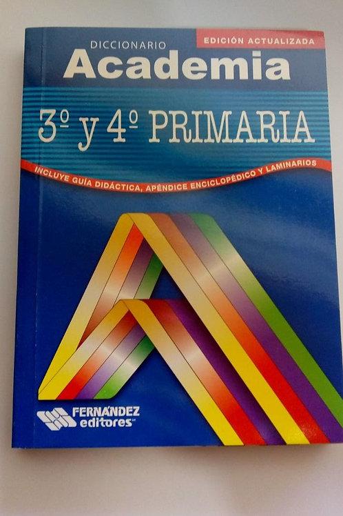 Diccionario Academia, 3o y 4o de primaria