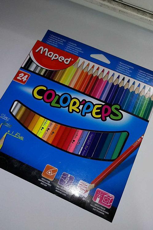 Colores Maped de 24 piezas.