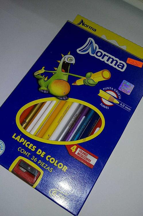 Colores Norma de 36 piezas.