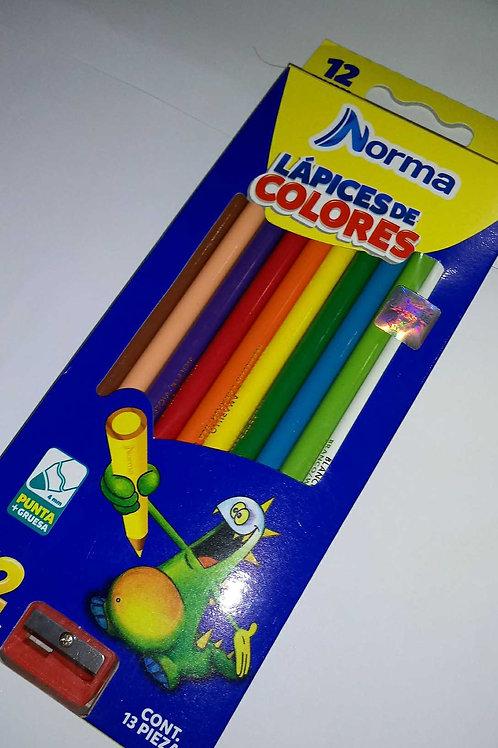 Colores Norma de 12 piezas.