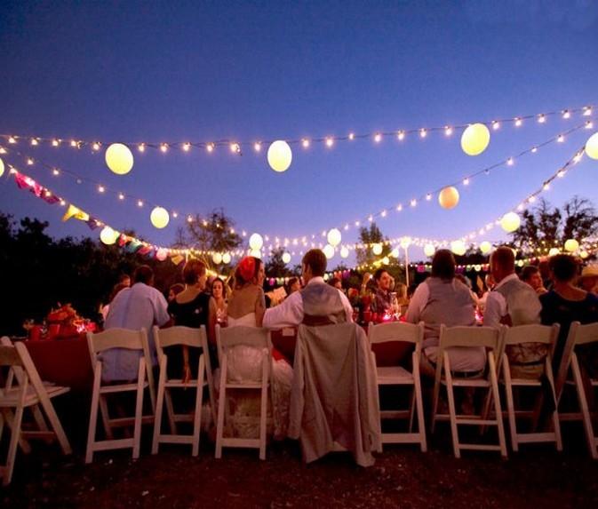 outdoor event wedding dj
