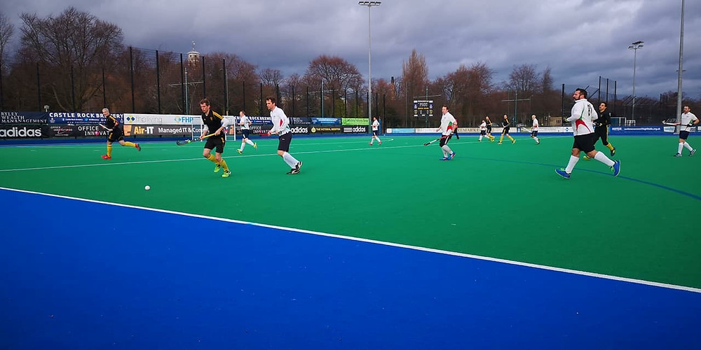 Men's O40s in action at Beeston