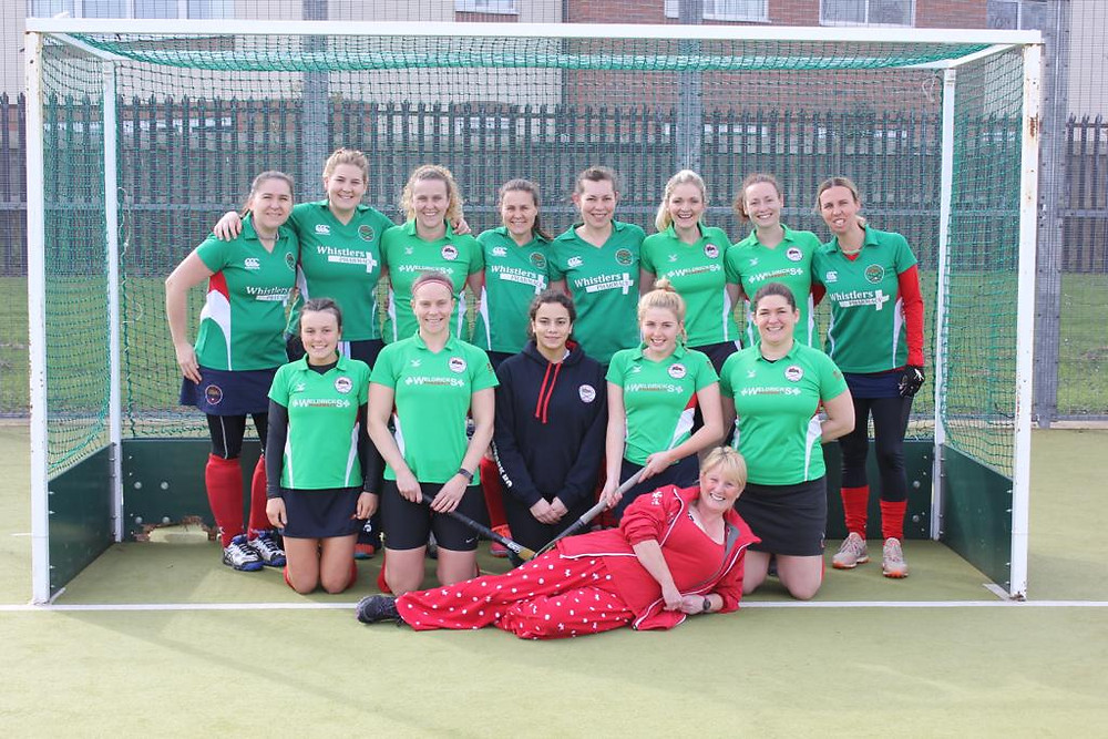 Ladies 2's and coach Sally Halfpenny