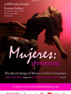 New Programme for 2019: Mujeres ¡Presentes!