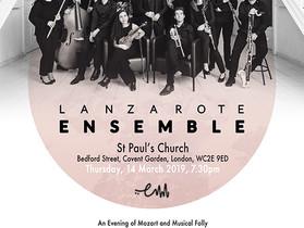 Lanzarote Ensemble Debut at St Paul's Covent Garden