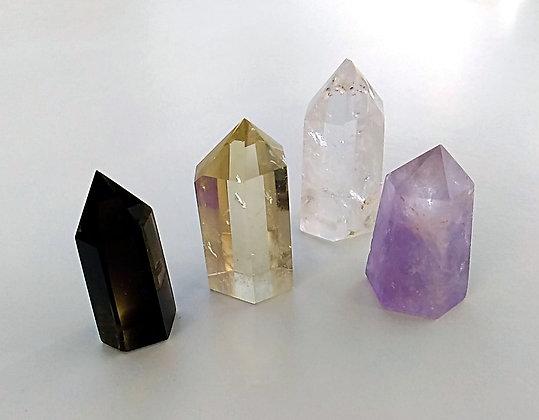Kit pierres - 4 pointes cristaux lithothérapie
