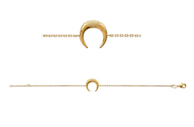 Bracelet croissant de lune plaqué or N°2