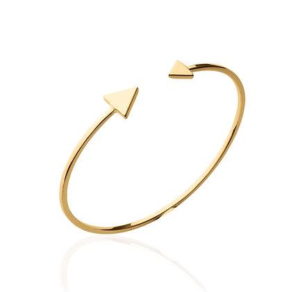 Bracelet jonc triangle plaqué or