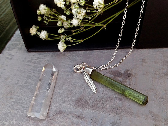 Tourmaline verte pendentif