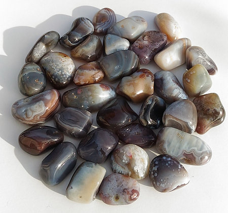 Agate pierre polie