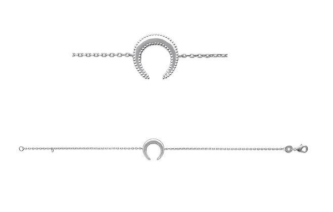 Bracelet lune argent 925 n°3