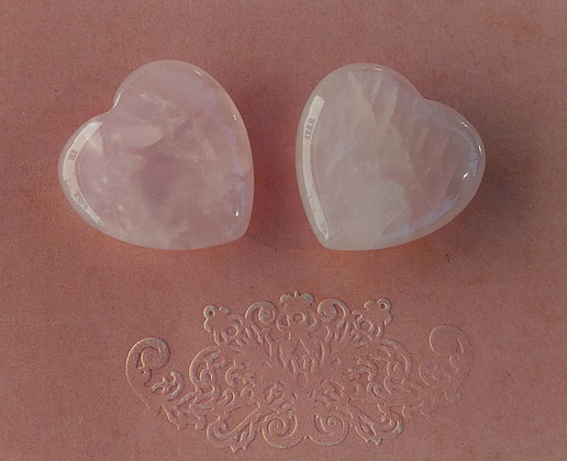 Coeur Quartz rose 3 cm