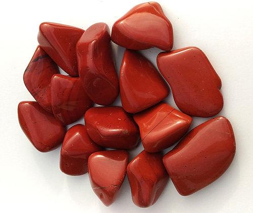 Jaspe rouge pierre polie